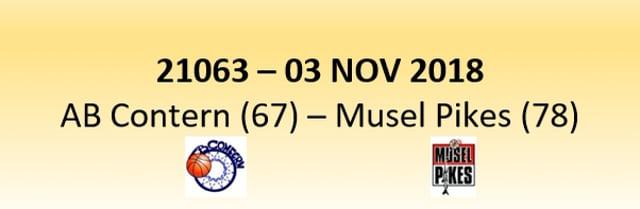 N1D 21063 AB Contern (67) - Musel Pikes (78) 03/11/2018
