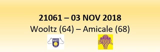 N1D 21061 Les Sangliers Wooltz (64) - Amicale (68) 03/11/2018