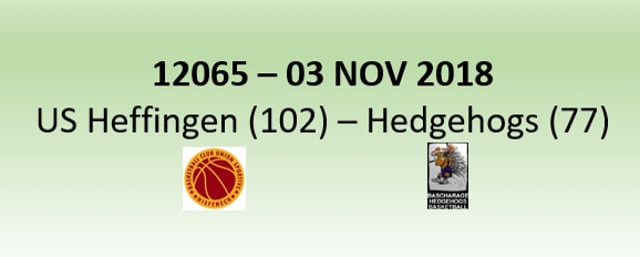 N2H 12065 US Heffingen (102) - Hedgehogs Bascharage (77) 03/11/2018