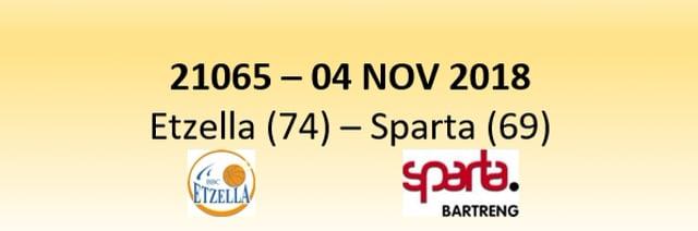 N1D 21065 Etzella Ettelbruck (74) - Sparta Bertrange (66) 04/11/2018