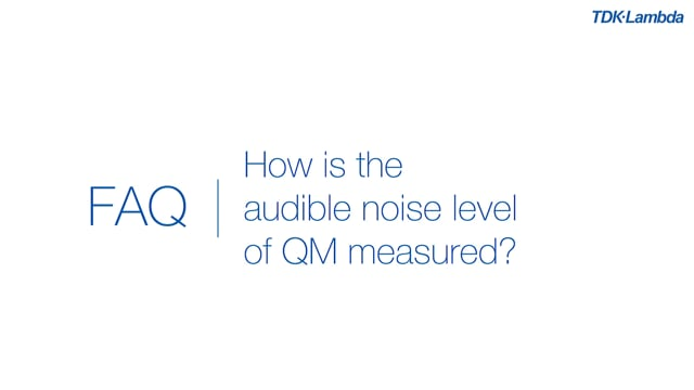 How is the audible noise level of a QM medical power supply measured?