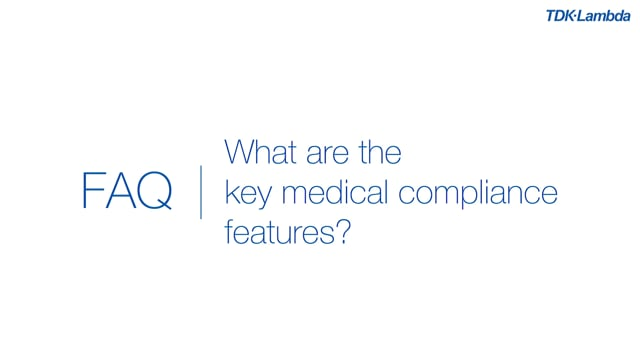 What are the key medical compliance features of QM AC-DC power supplies?