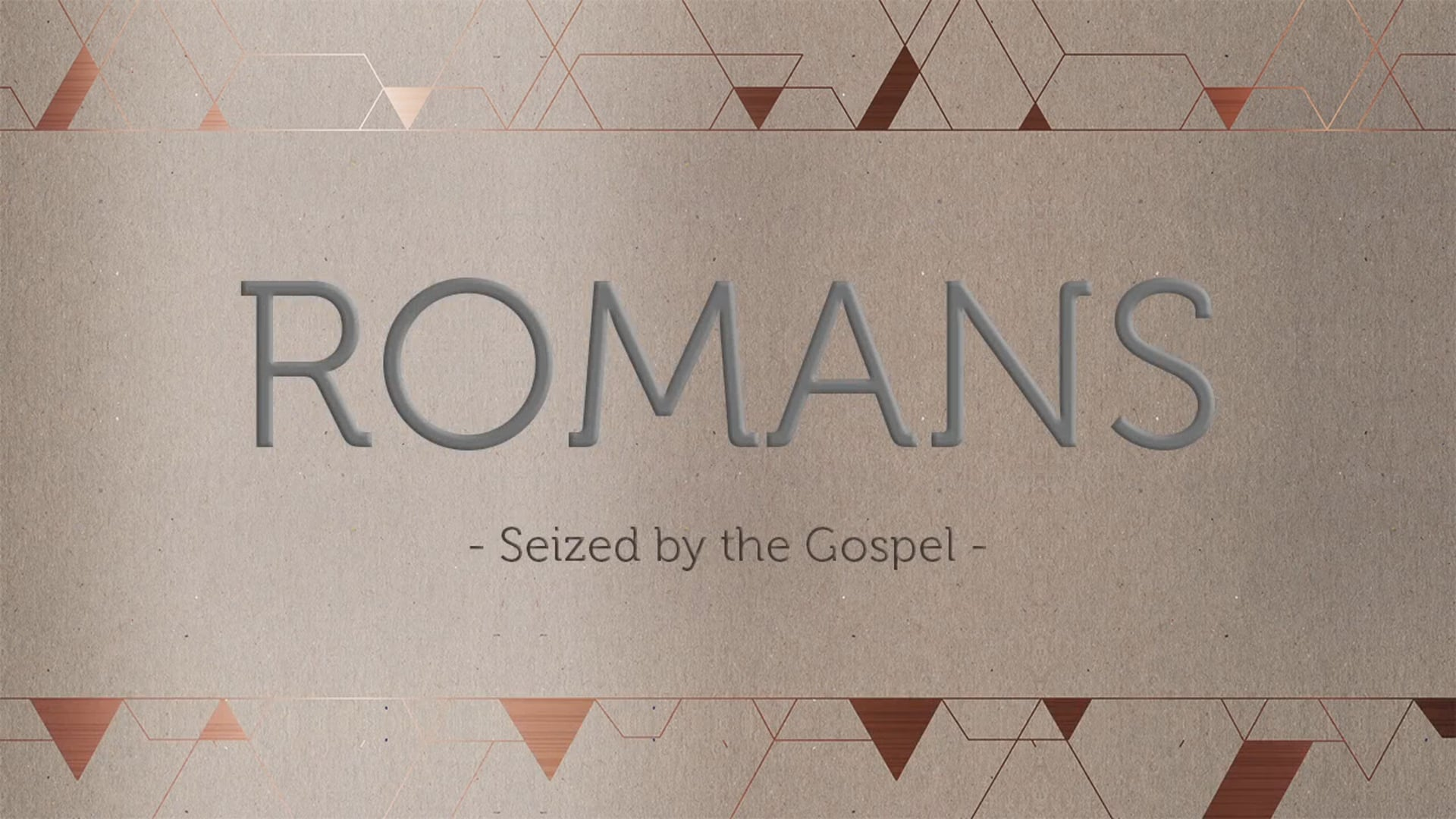 Week 9- Love Poured Out :Romans 5:5-11