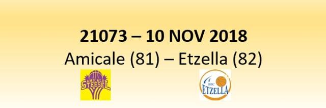 N1D 21073 Amicale Steinsel (81) - Etzella Ettelbruck (82) 10/11/2018