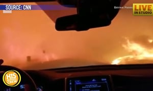 Couple Prays Driving Through Devastating California Fires
