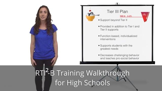 RTI2-B Training Walkthrough for High Schools