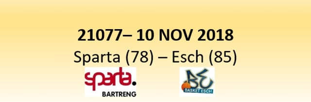 N1D 21077 Sparta (78) - Esch (85) 10/11/2018