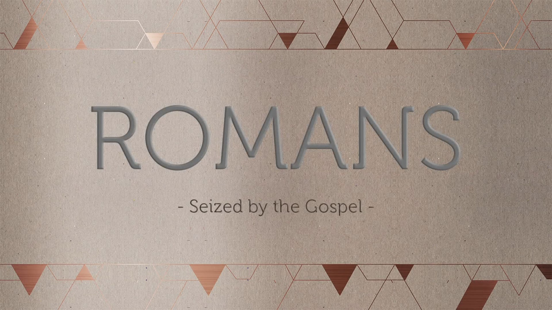Week 10- Jesus is Perfect : Romans 5:12-21