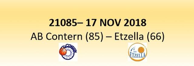 N1D 21085 AB Contern (85) - Etzella Ettelbruck (66) 17/11/2018