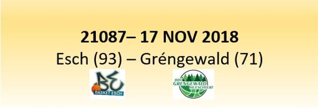 N1D 21087 Basket Esch ( 93 )  - Grengewald (71 ) 17/11/2018
