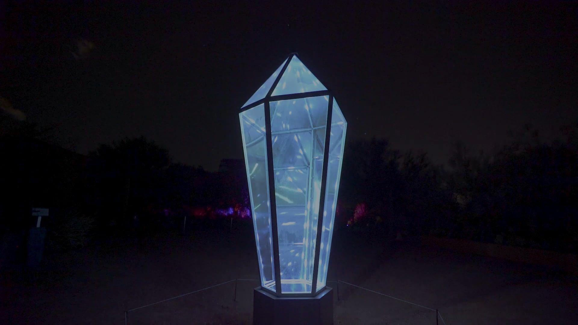 Infinity Crystal sculpture