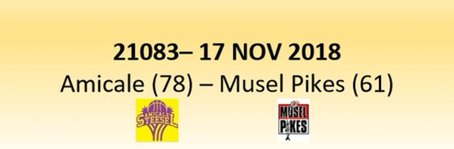 N1D 21083 Amicale Steinsel (78) - Musel Pikes (61) 17/11/2018
