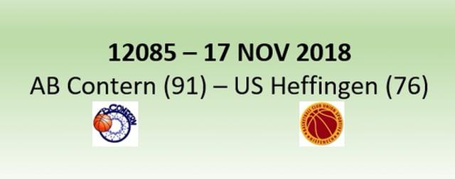 N2H 12085 AB Contern (91) - US Heffingen (76) 17/11/2018