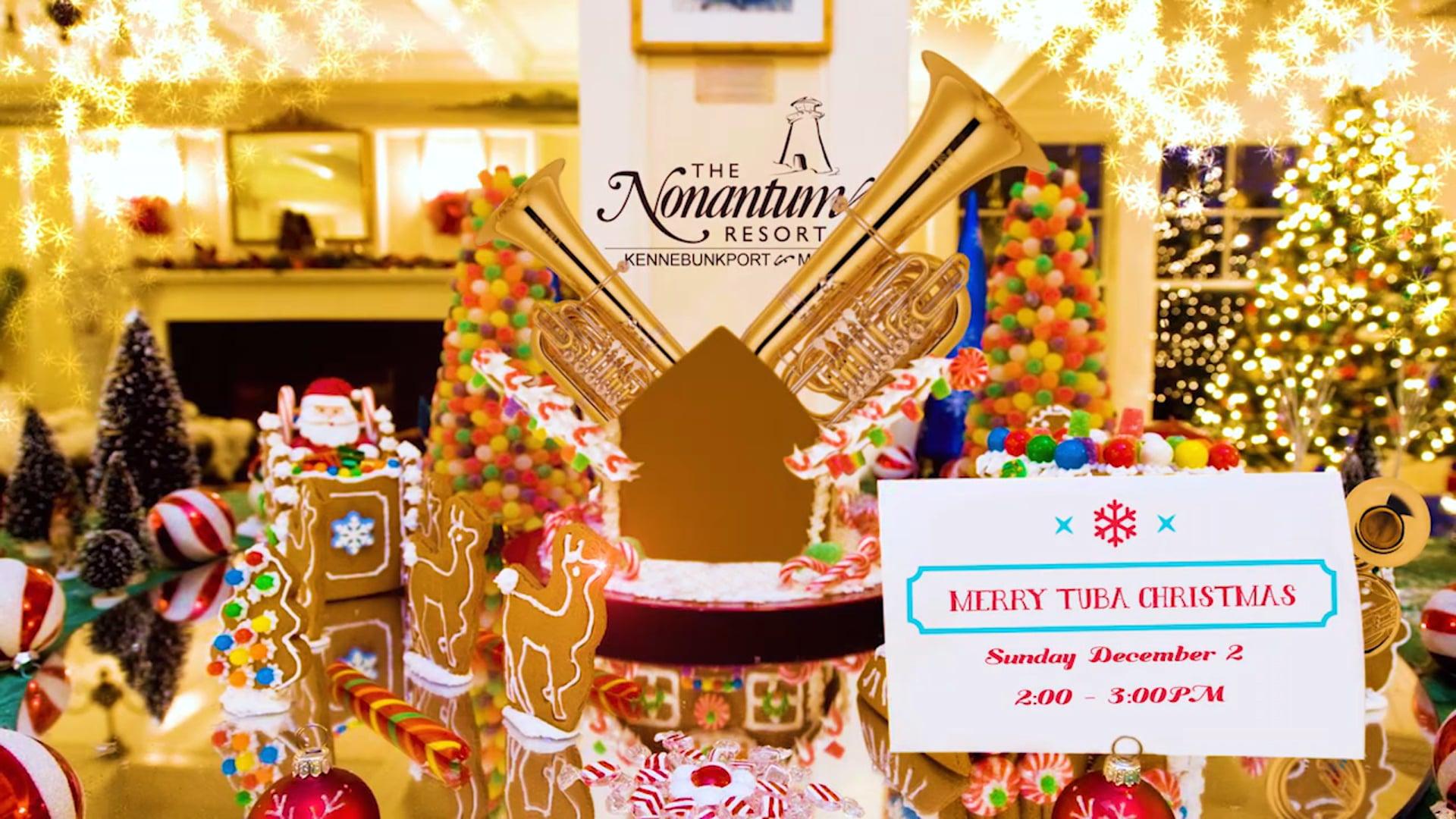 Facebook Ad - Nonantum Resort - Tuba Christmas and Gingerbread House
