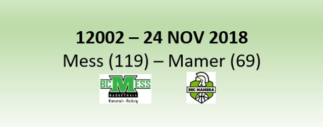 N2H 12002 BC Mess (119) - Mamer (69) 24/11/2018