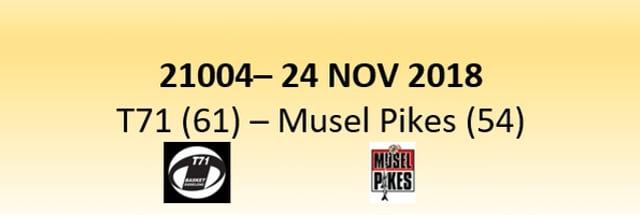N1D 21004 T71 Diddeleng (61) - Musel Pikes (54) 25/11/2018