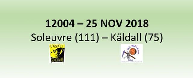 N2H 12004 Soleuvre (111) - Kayldall (75) 25/11/2018