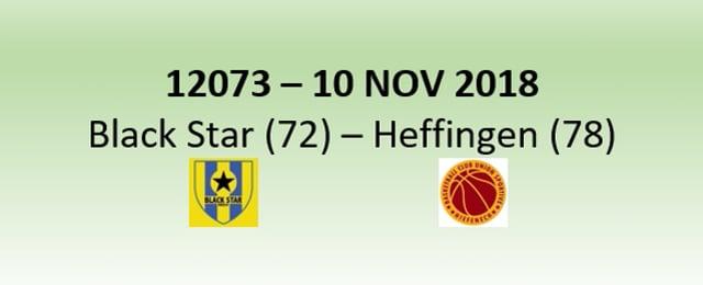 N2H 12073 Black Star Mersch (72) - US Heffingen (78) 10/11/2018