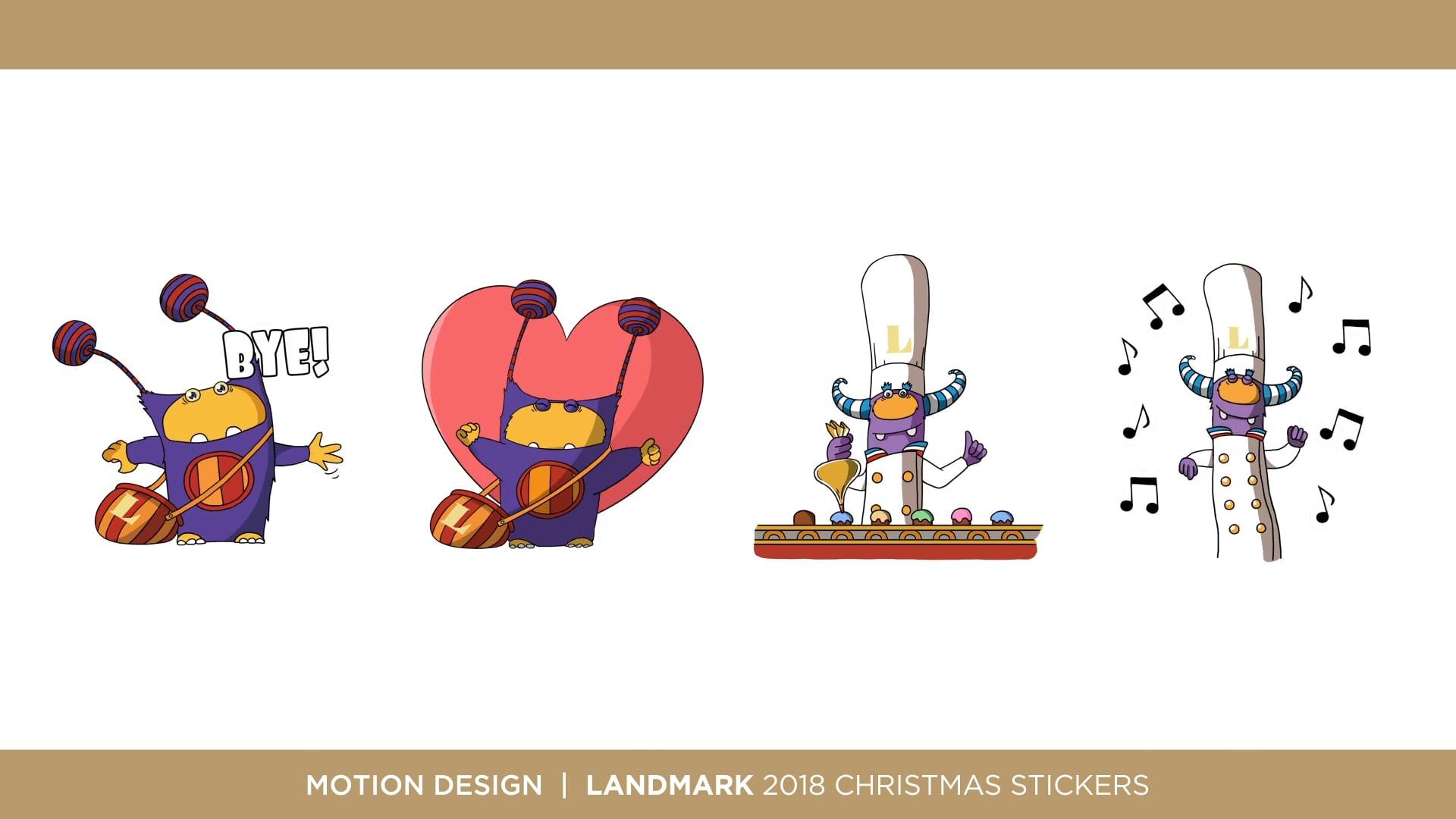Iandmark 2018 Christmas Stickers
