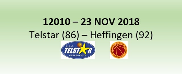 N2H 12010 Telstar Hesperange (86) - US Heffingen (92) 23/11/2018