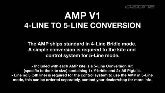 AMP V1 4-Line to 5-Line Conversion (Kite and Control System)