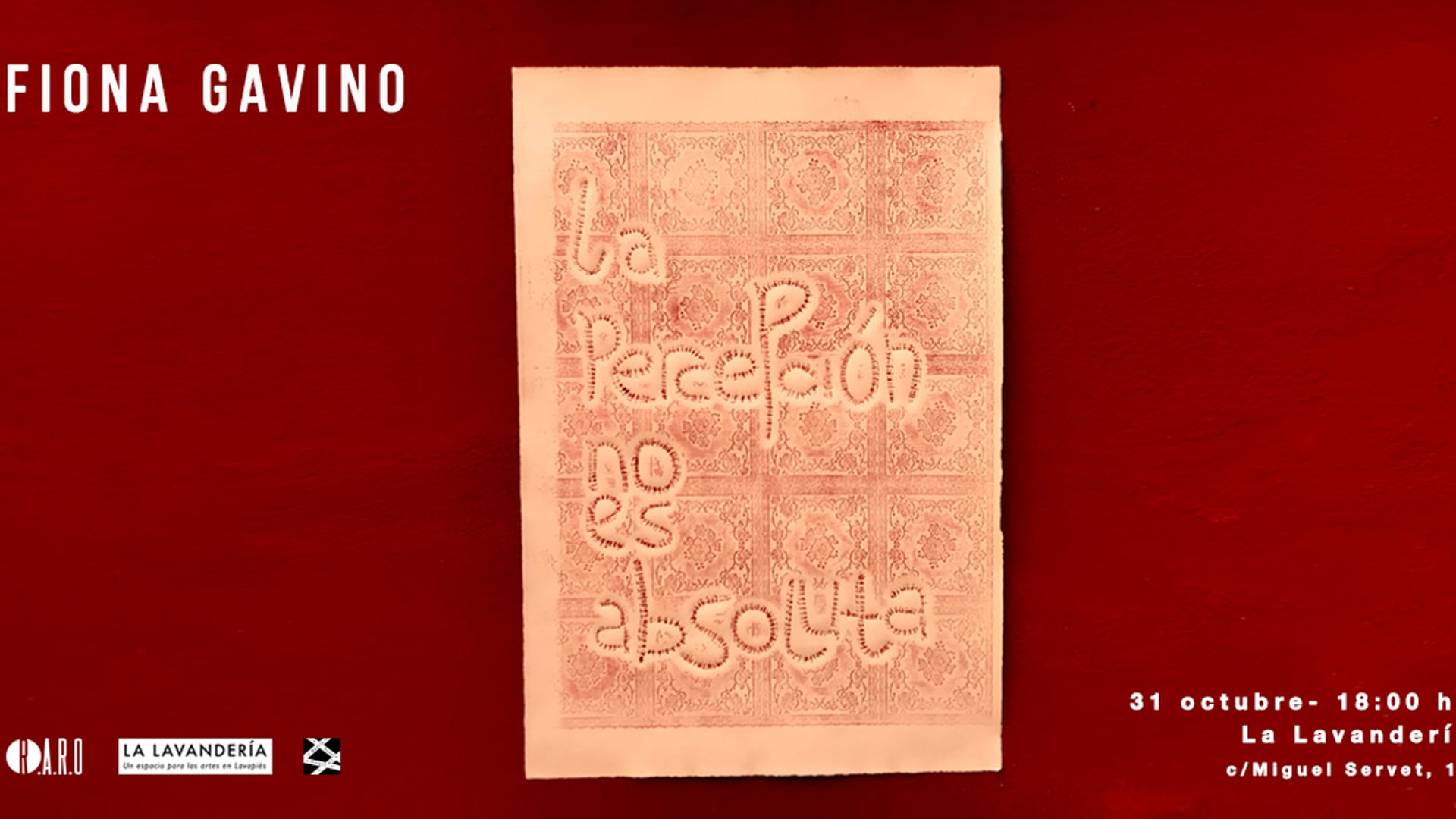 Residencia Artística R.A.R.O Madrid - Fiona Gavino (Octubre 2018)