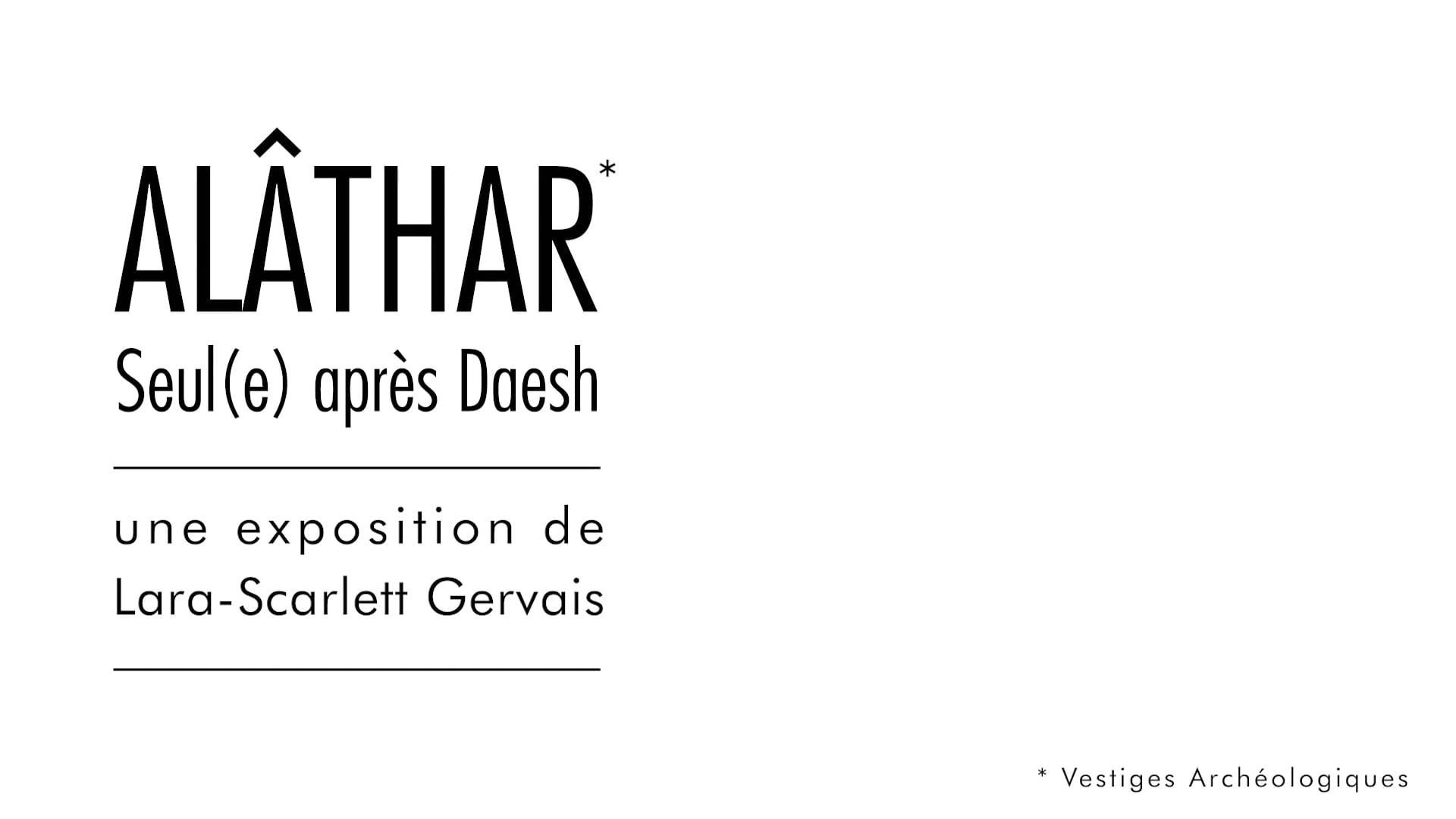 ALÂTHAR, Seul(e) après Daesh présentée au Palais des Nations à Genève
