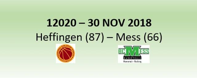 N2H 12020 US Heffingen (87) - BC Mess (66) 30/11/2018