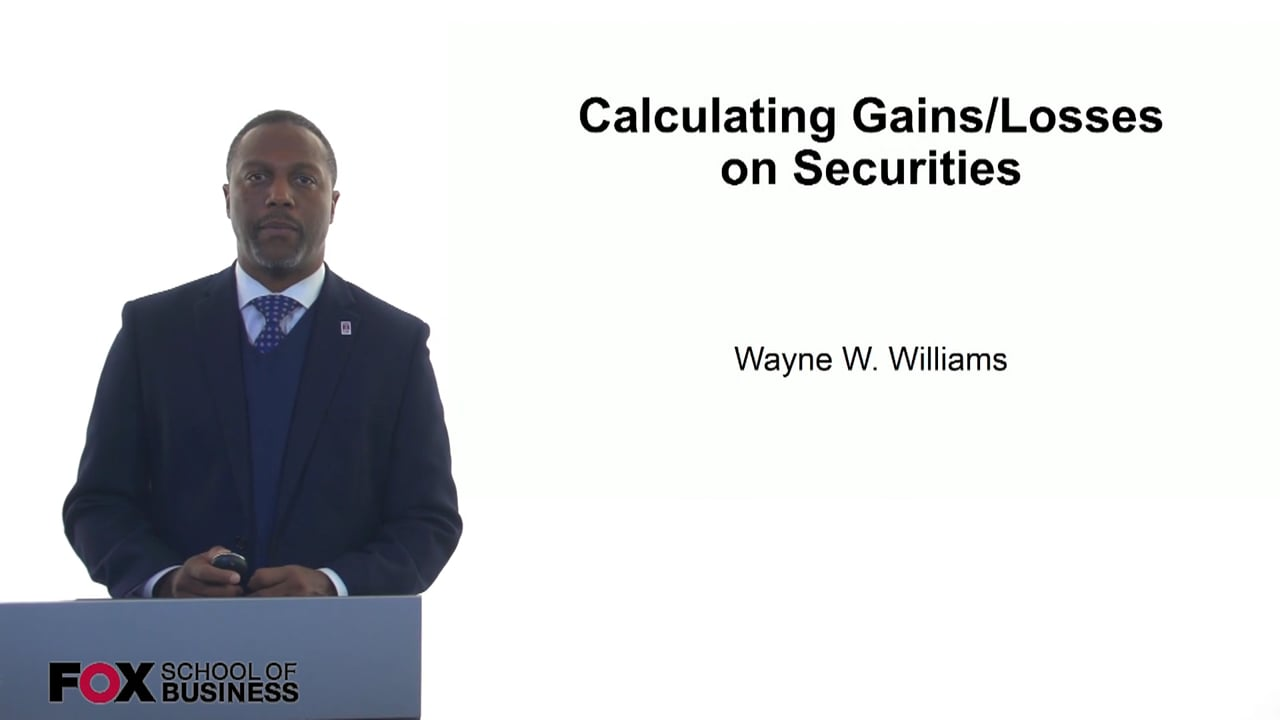 61215Calculating Gains and Losses on Securities