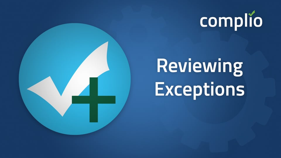 Reviewing Exceptions