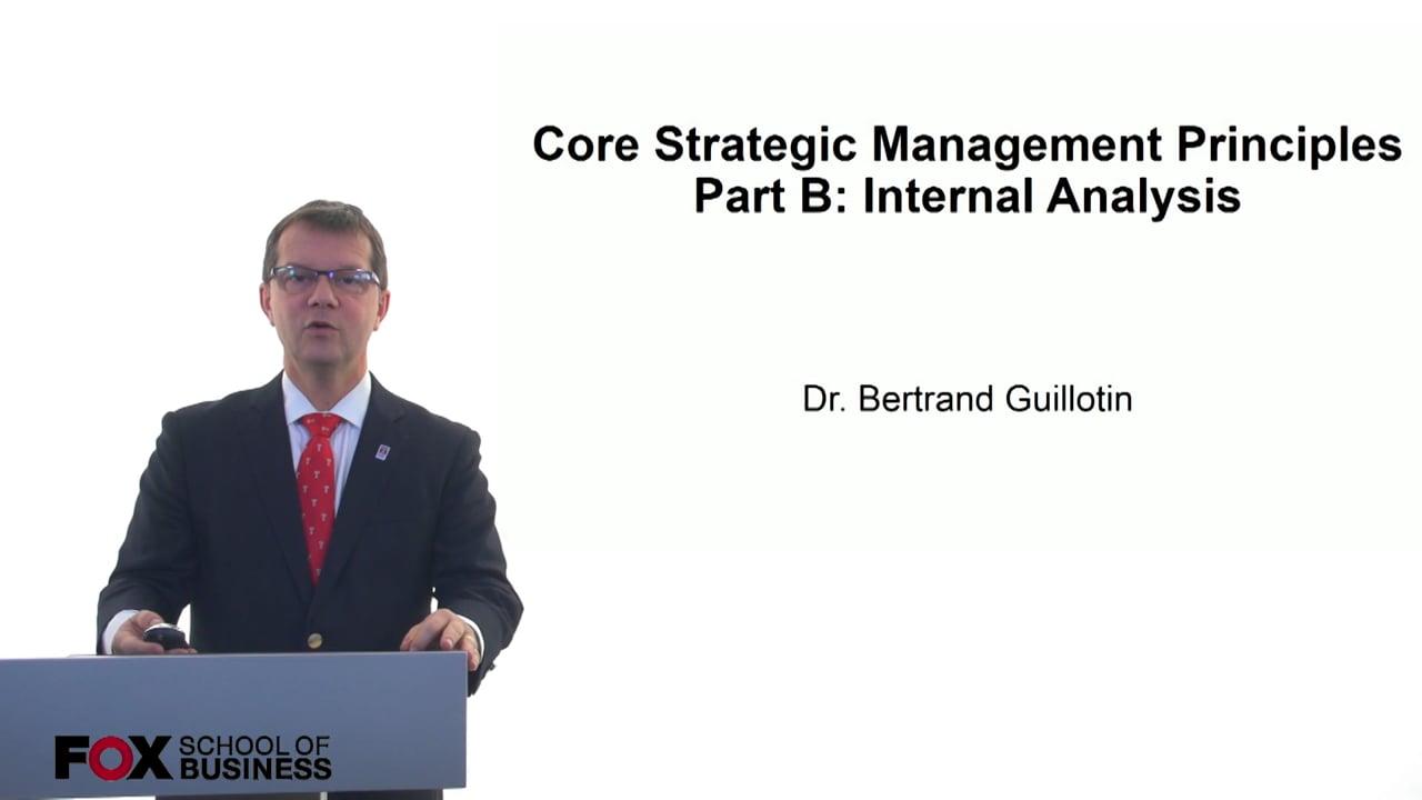 61216Core Strategic Management Principles – Part B: Internal Analysis