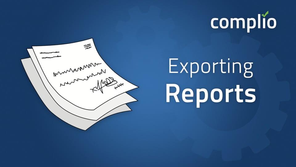 Complio Reporting