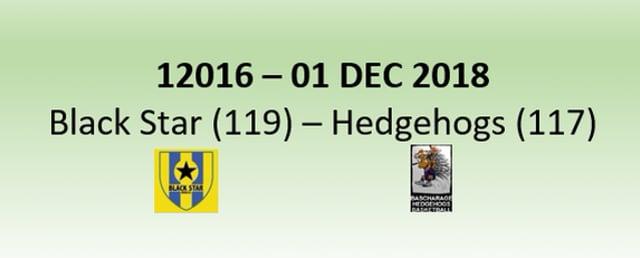 N2H 12016 Black Star Mersch (119) - Hedgehogs Bascharage (117) 01/12/2018
