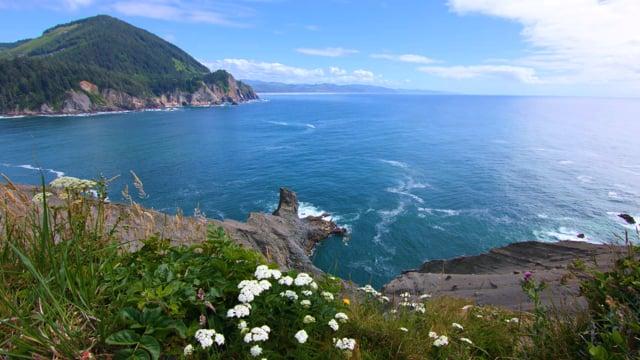 Coastal Oregon. Pacific Ocean. 2 - 4K HDR