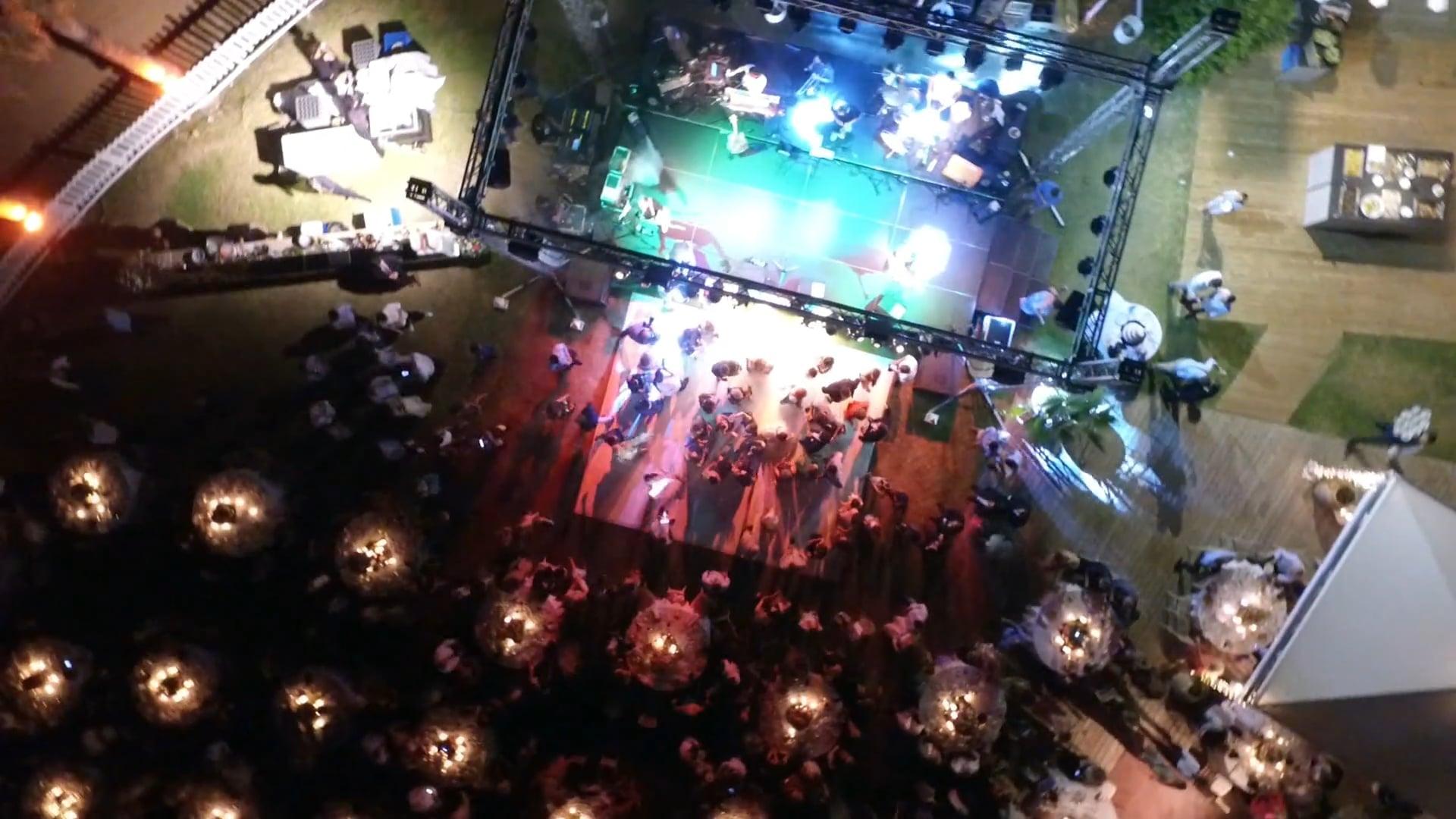 DJ Nikos Alatas, VI.P. Destination wedding in Athens Riviera with Onirama Live, Drone 11 minutes clip! www.eventacademy.gr
