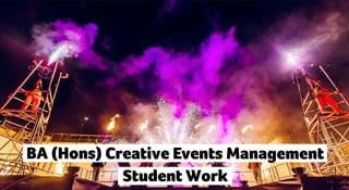 AUB - BA (Hons) Creative Events Management