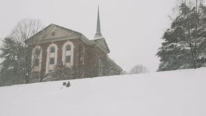 Snow Day Sledding at Sweet Briar College