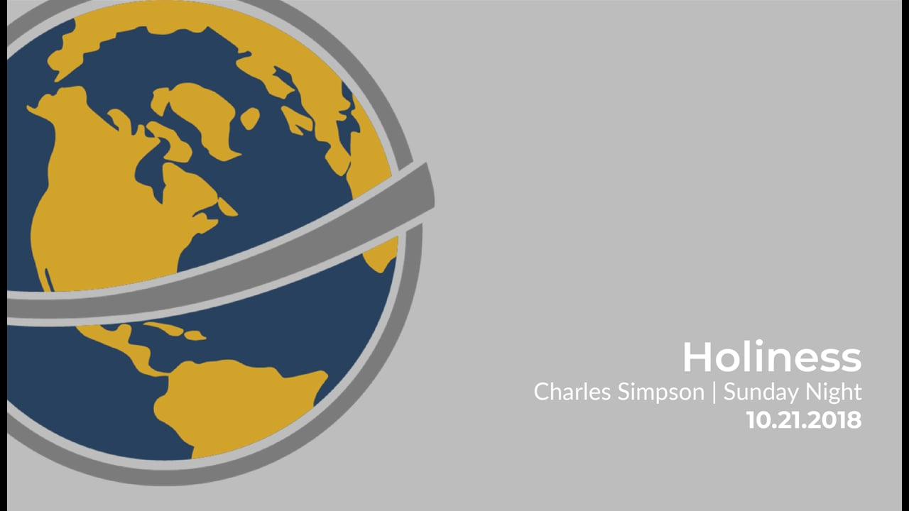 Holiness   Charles Simpson   October 21, 2018