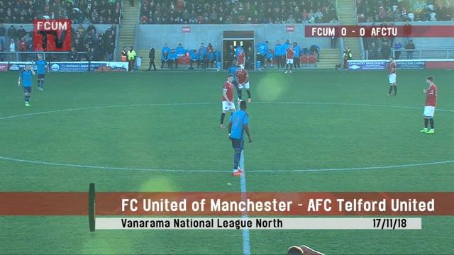 FCUM vs AFC Telford - 17/11/18 - Highlights