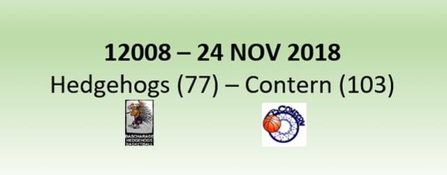 N2H 12008 Hedgehogs Bascharage (77) - AB Contern (103) 24/11/2018