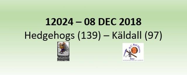 N2H 12024 Hedgehogs Bascharage (139) - Kayldall (97) 08/12/2018