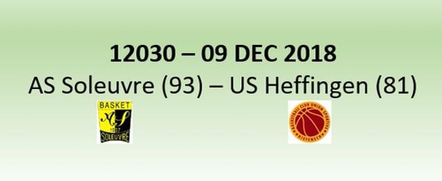 N2H 12030 Soleuvre (93) - Heffingen (81) 09/12/2018