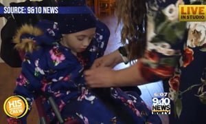Parents Invent Coat to Keep Kids in Wheelchairs Warm