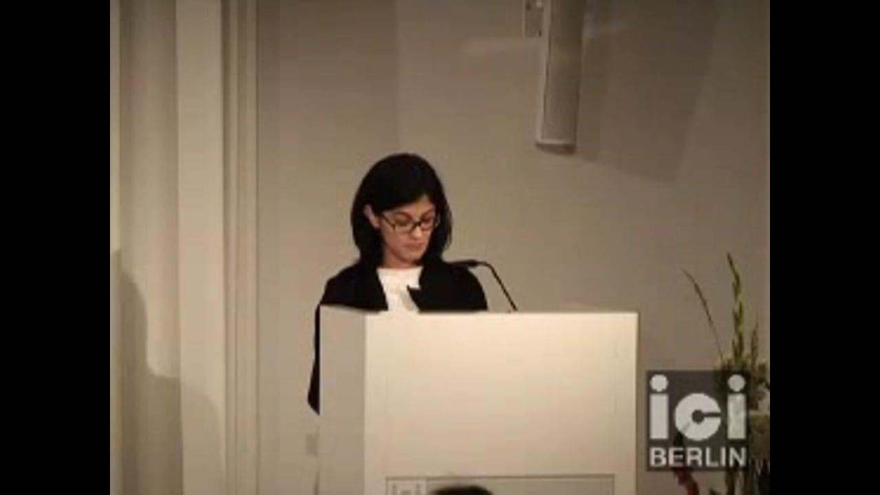 Talk by Fatima Naqvi / 2