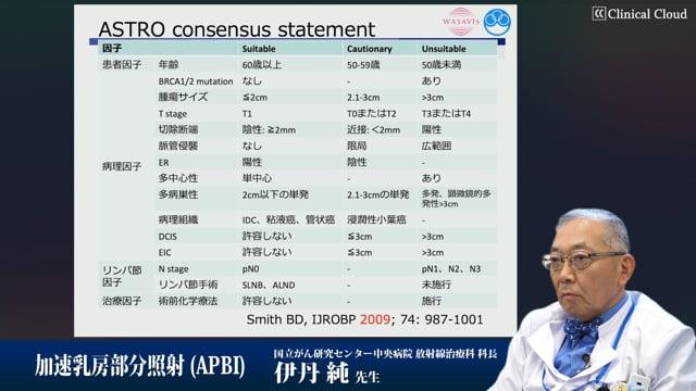 伊丹 純先生:加速乳房部分照射(APBI)