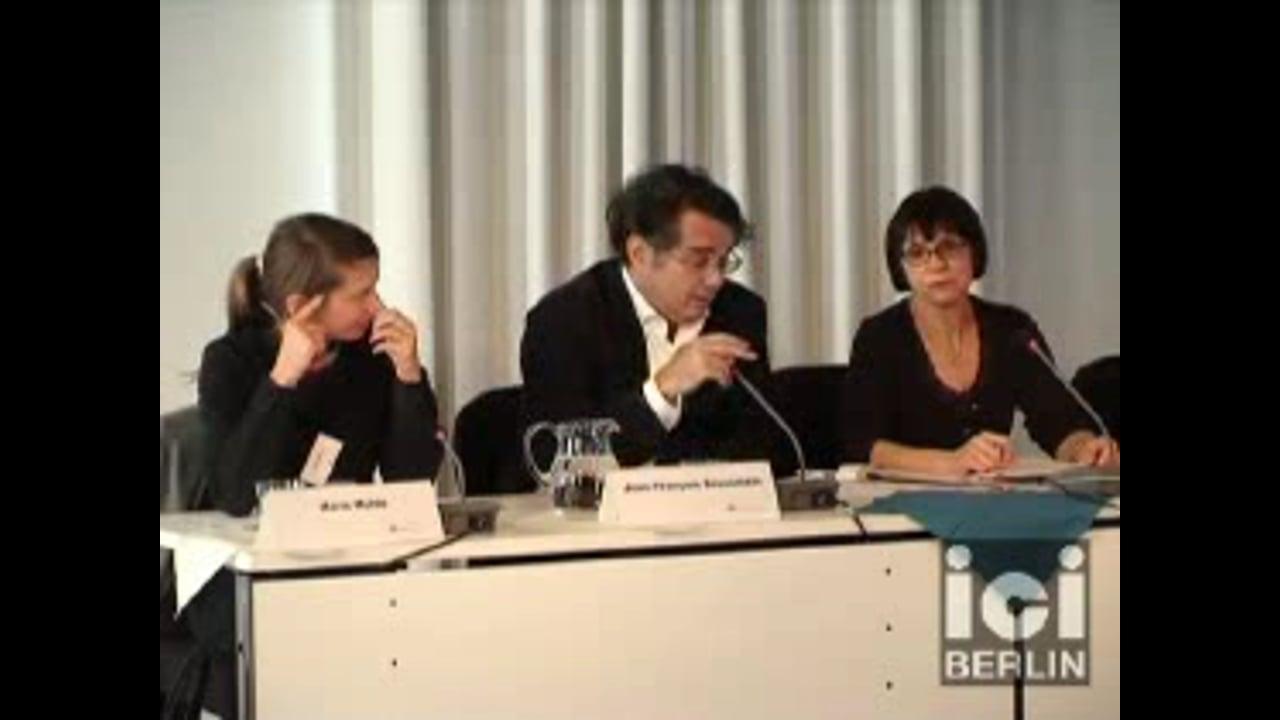 Talk by Jean-François Braunstein