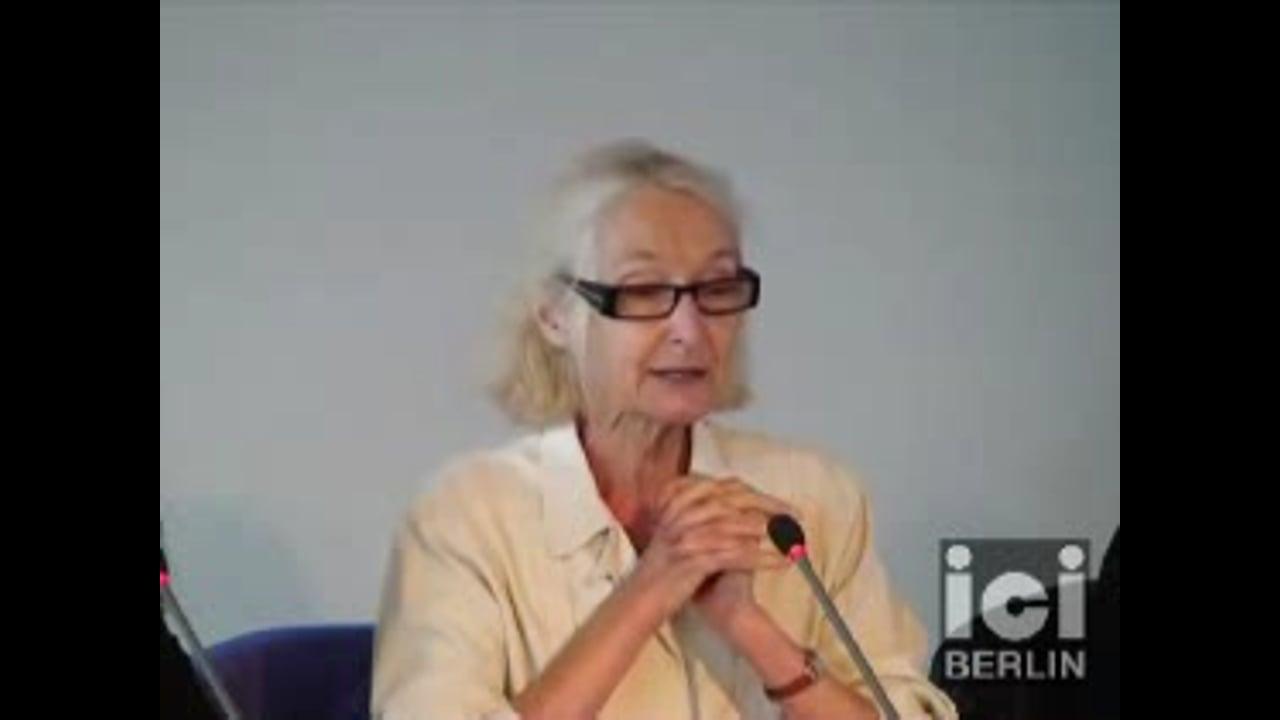 Talk by Françoise Balibar / 1