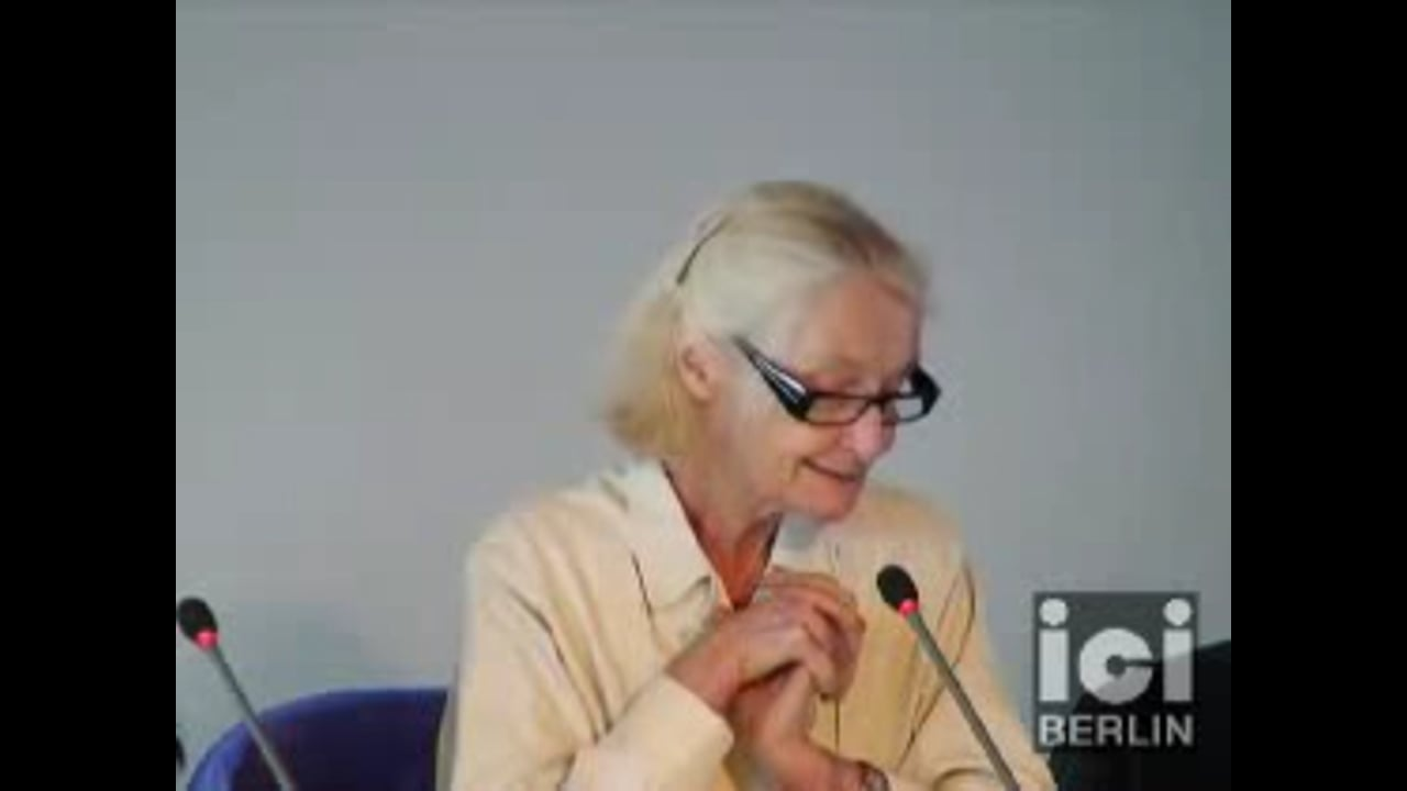 Talk by Françoise Balibar / 2