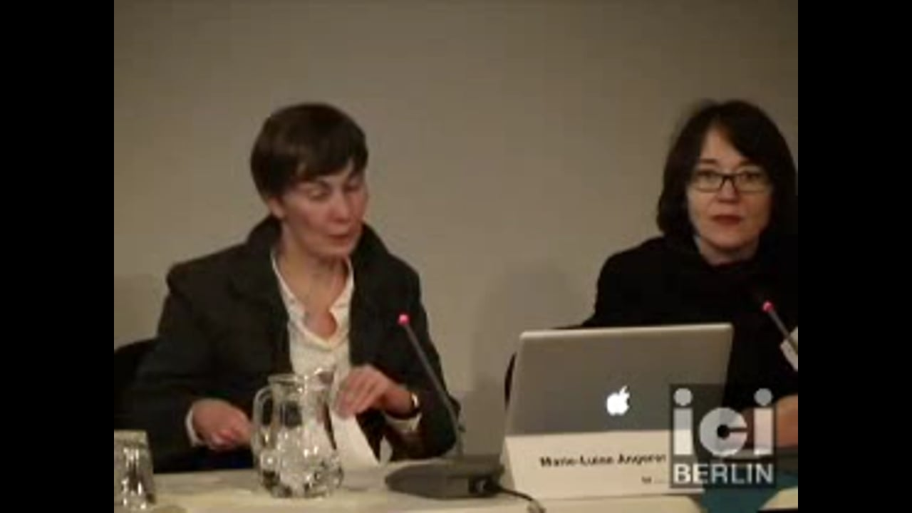 Talk by Marie-Luise Angerer / 1