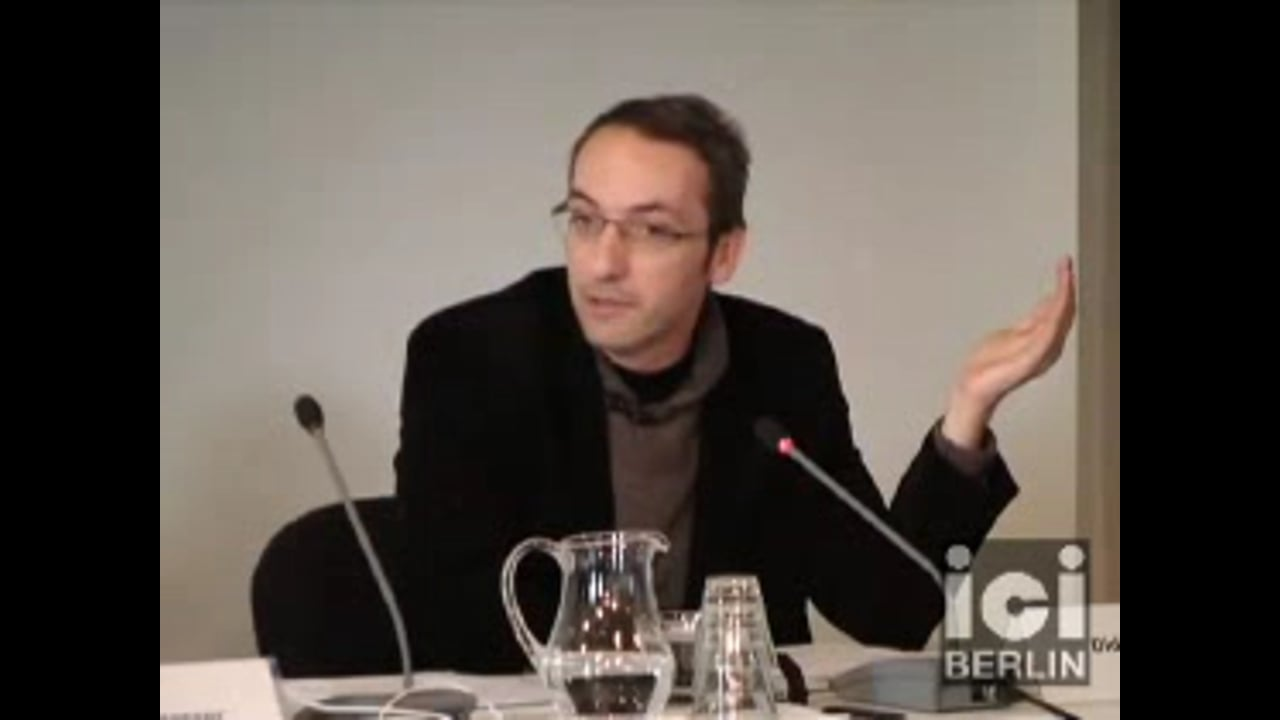 Talk by Didier Debaise / 1